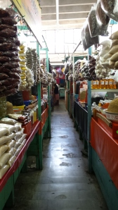 row upon row of spice stalls