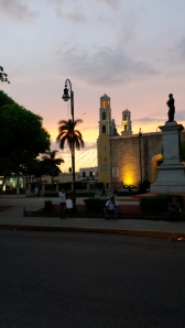 our local square san juan, in the evening